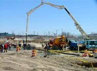 Work begins with the demolition of existing foundations