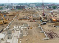 Over 3,800 cubic yards of concrete were used to build the new melt shop foundation