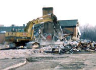 Demolition of the former plaza facilities